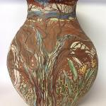 Large tree vessel earthenware